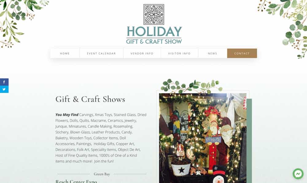 Craft show website