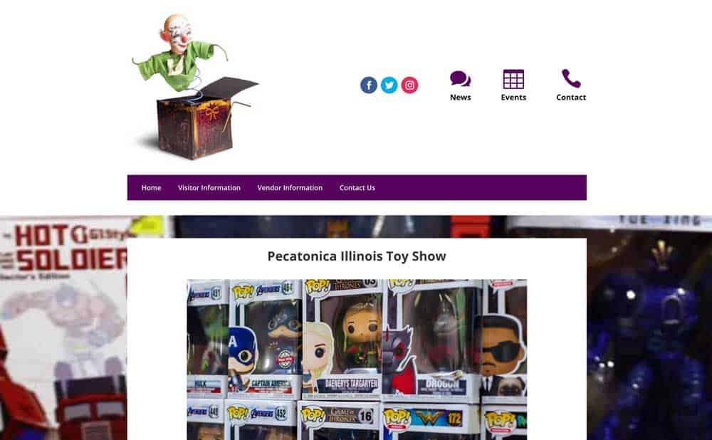 Toy Show website