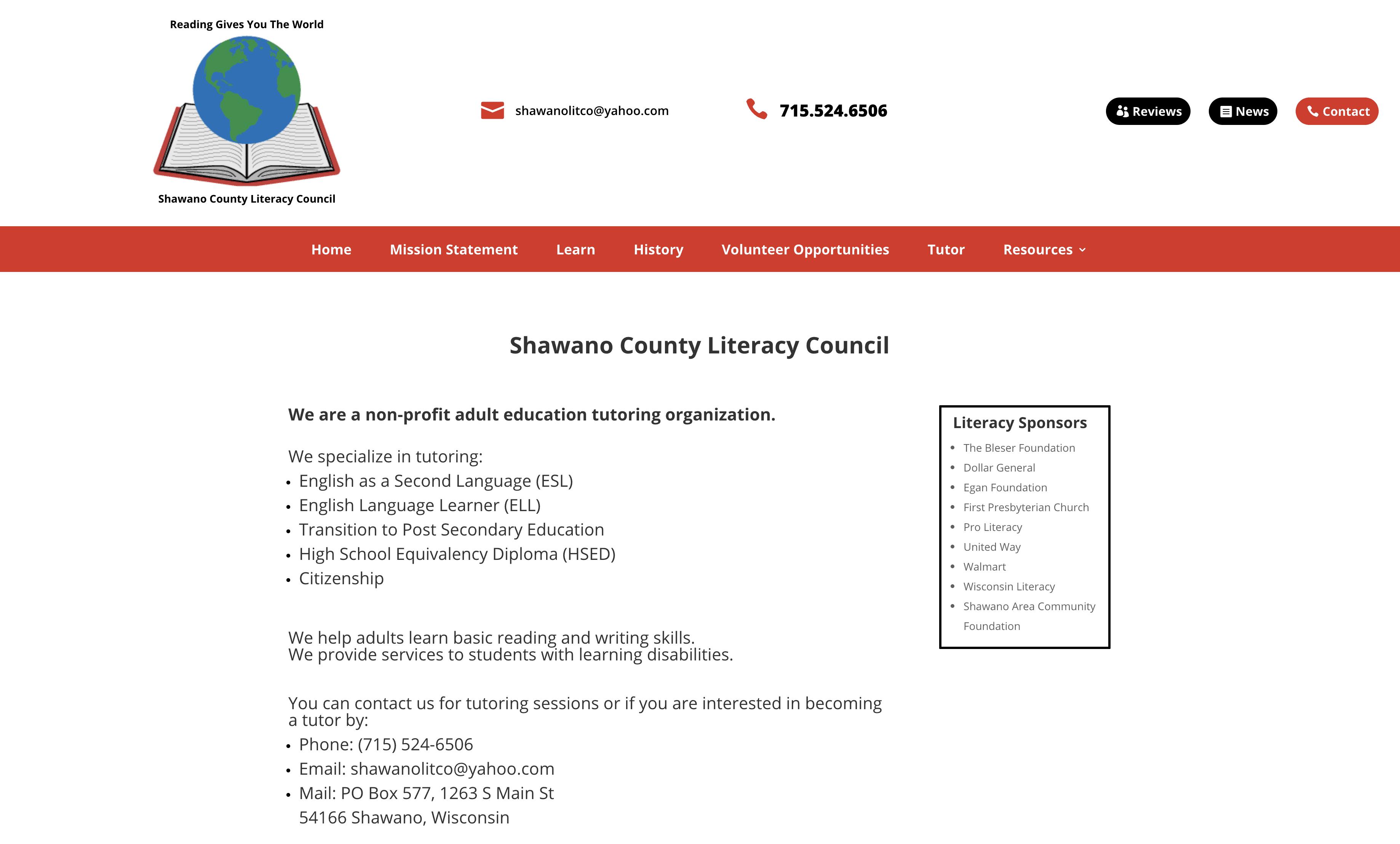 Shawano Literacy Council