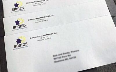 Custom printed envelopes with variable data printing